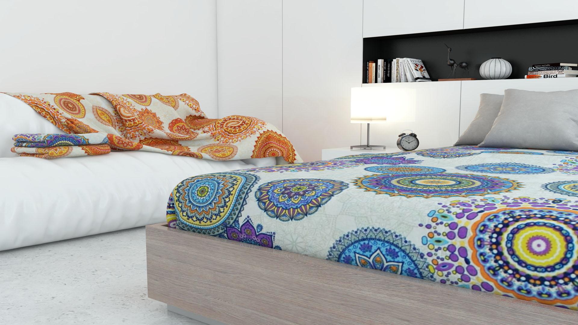 Colchas multiusos fontal para cama sof coche playa - Colchas para sofas baratas ...